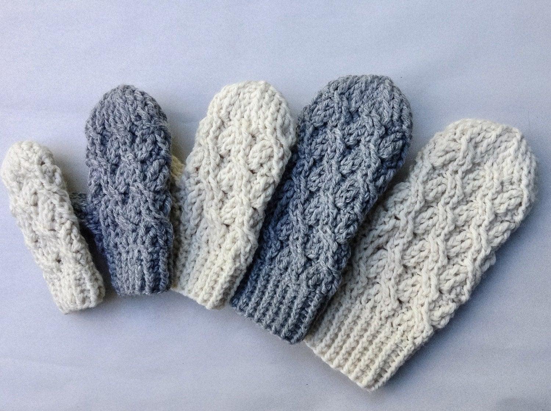 Crochet Pattern Crochet Mitten Pattern The Cadence Mittens