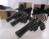3 Gun Soap - cool gifts for guys, gift for him, stocking stuffer for man - black gun - gift for men