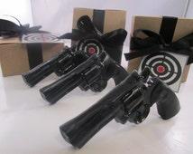 3 Gun Soap - cool gifts for guys, gift for him, stocking stuffer for man - black gun - gift for men