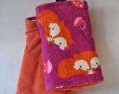 Fuchsia and Orange Fox Straight Suck Pads