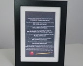 Mother Teresa Anyway Poem Print  with Chalkboard Background for Teacher in 5 x 7 Frame