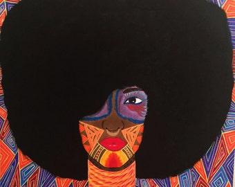 TAJ - Original painting Iconic Female Series Powerful Women Acrylics