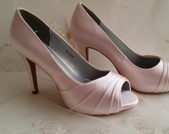 Wedding Shoes Bridal Shoes Bridesmaid Shoes - Over 100 Color Choices to Pick From Pink Wedding Shoes Pink Bridal Shoes