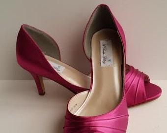 a5fd905d213 fuchsia wedding shoes fuchsia bridal shoes fuchsia bridesmaid shoes pick  from 100 colors bridesmaid shoes