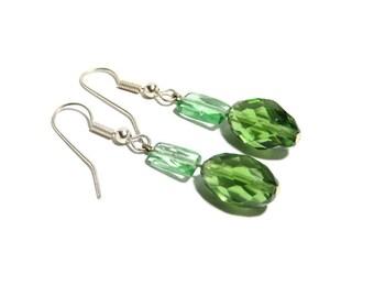 Peridot Stone Earrings, Green Earrings, Women, Teen, Ready To Ship
