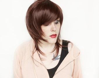 SALE Long Brown wig | Emo wig | Scene wig, Scene Emo wig, Brown Emo wig | Viper
