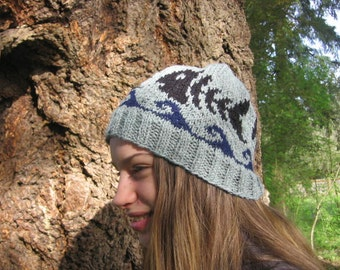Cute Hand Knit Fish Scale Hat