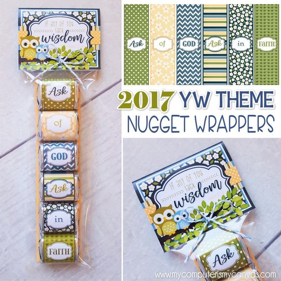 Nugget Gift Ideas Apparel: 2017 YW Themed Nugget Wrappers 2017 YW Theme Printables Gift