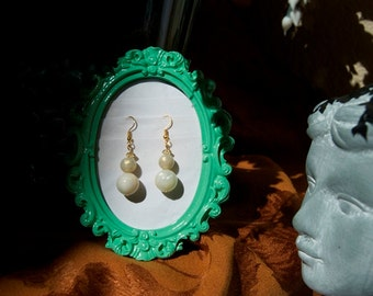 Pearl Tiered Earrings - Gold