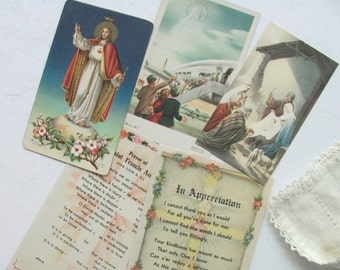 Vintage Holy Cards Prayer Card Mary Joseph Baby Jesus 3 Kings Travel St Francis Assisi Italy Germany Catholic Religious Picture Prayer Book