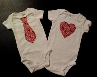 St. Louis Cardinals Tie or Heart Onesie