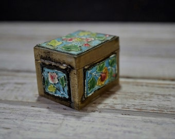 Cloisonne Stamp Box