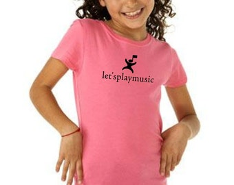 3710 Let'splaymusic girly fitted tshirt