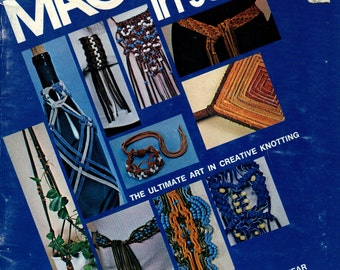 MACRAME In SUEDE 12 Project Patterns Choker Bracelets Belts Watchband Pendant Hair Ornament Bib Candle Plant Holder Botton Cover MORE