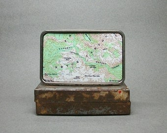 Belt Buckle Bryce Canyon National Park Utah Map Unique Gift for Men or Women