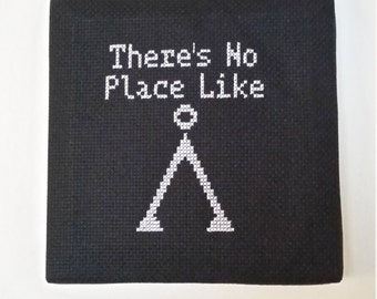 There's No Place Like Home - Stargate Cross-Stitch Wall Hang