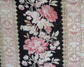 Reserved on hold             stunning fabric fabulous colours French barkcloth French chintz