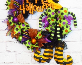 Halloween Wreath, Halloween Witch Wreath, Halloween Decoration, Halloween Decor, Witch Decor