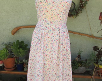 sweet white floral summer dress