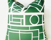 Green Trellis Pillow