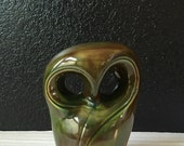 mid century abstract ceramic owl figurine sculpture
