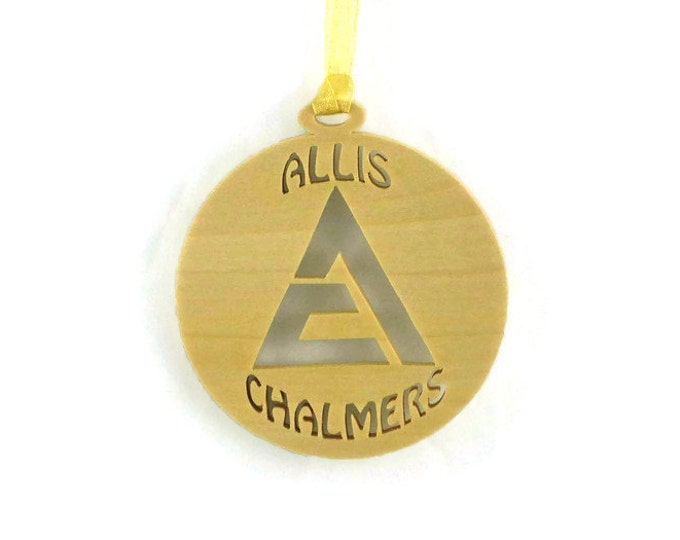 Allis Chalmers Tractor Christmas Ornament Handmade from Poplar Wood