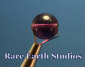 62 - 11mm Vintage Purple Glass Beads 60516104