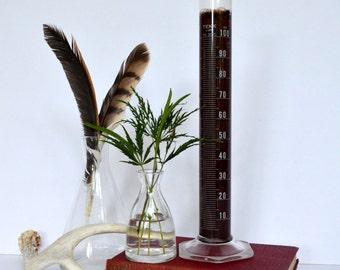 Vintage Lab Beakers Industrial Chemistry  Lab Flask (set of 3)