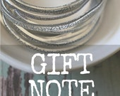 Gift Note Add-on // Personalized Note