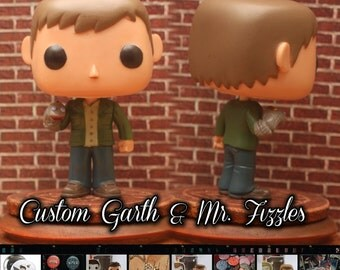 Supernatural Garth with Mr. Fizzles- Custom Funko