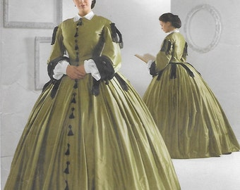 Simplicity 2887 Women's Renaissance Dress Costume Sewing Pattern Size 8 to 14 Bust 31 to 36