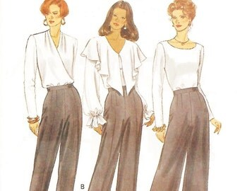 Butterick 3209 Misses' 90s Petite Pants Sewing Pattern Size 14 to 18 Hip 38 to 42