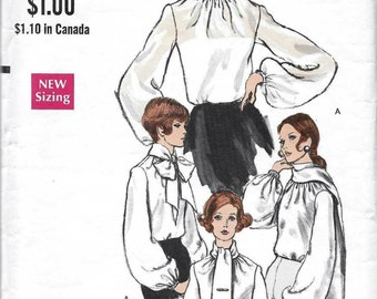 Vogue 7668 Women's 60s Blouse & Scarf Sewing Pattern Bust 36
