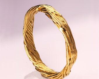 Twig Ring - 14K Gold Ring, wedding ring, wedding band, leaf ring, filigree, antique, art nouveau, vintage, mens ring, mens band, 5
