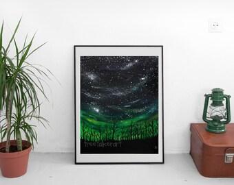 Galaxy Art Print - Outer Space Art - Giclee Art Print