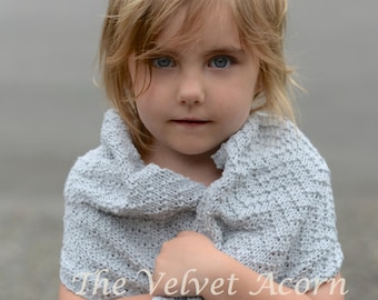 KNITTING PATTERN-The Chevlyn Wrap (Small, Medium, Large scarf or Small, Medium, Large wrap sizes)