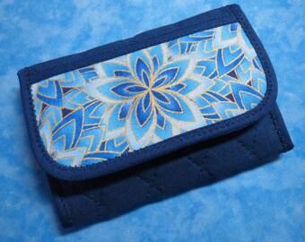 Women Wallet - Credit Card Holder Small Wallet Fabric Wallet Credit Card Wallet Trifold Wallet Cloth Wallet Ladies Wallet Velcro Mini Wallet