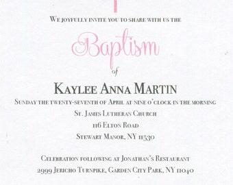 Digital Baptism Invitation Girl Printable - Christening, First Communion, Print Yourself