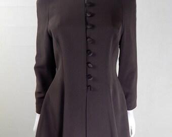 Original Vintage 1980s Amanda Wakeley Brown Jacket UK Size 10/12