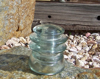 Vintage Insulator Kerr No 22 69 Pale Green Glass Insulator 1920s