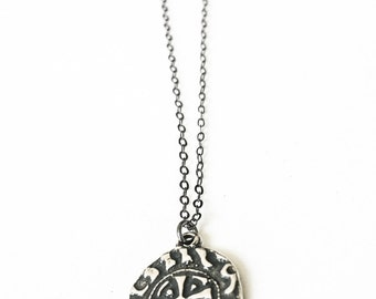 Silver St Benedict Necklace