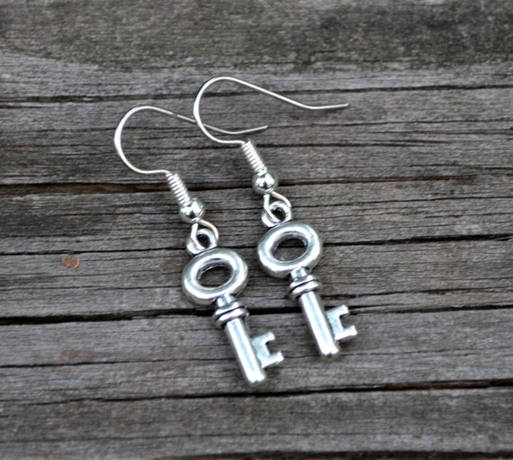 Silver Keys . Earrings