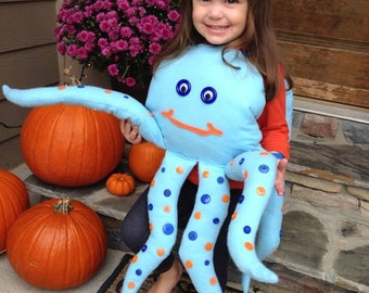 Girls or Boys Octopus Halloween Costume (Newborn - 5T)