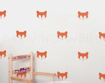 Fox Pattern, Fox Nursery Decor, Mask Fox Wall Nursery, Fox Sticker, Foxes Part 58