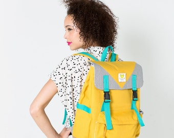 Adventure Backpack in Mustard Yellow - Free Shipping