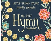 Set of FOUR 2017 Hymn Calendar by Little Things Studio