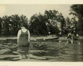 "Vintage Photo ""No Pictures...PLEASE"" Snapshot Antique Photo Black & White Photograph Found Paper Ephemera Vernacular - 171"