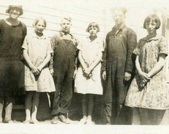 """Vintage Photo """"School Children of Tennessee Hills"""" Snapshot Antique Photo Black & White Photograph Found Paper Ephemera Vernacular - 187"""