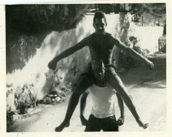 "Vintage Photo ""Street Performers in Practice"" Snapshot Old Antique Photo Black & White Photograph Found Paper Ephemera Vernacular - 72"