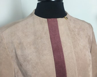 80's Pink Faux  Suede Trench